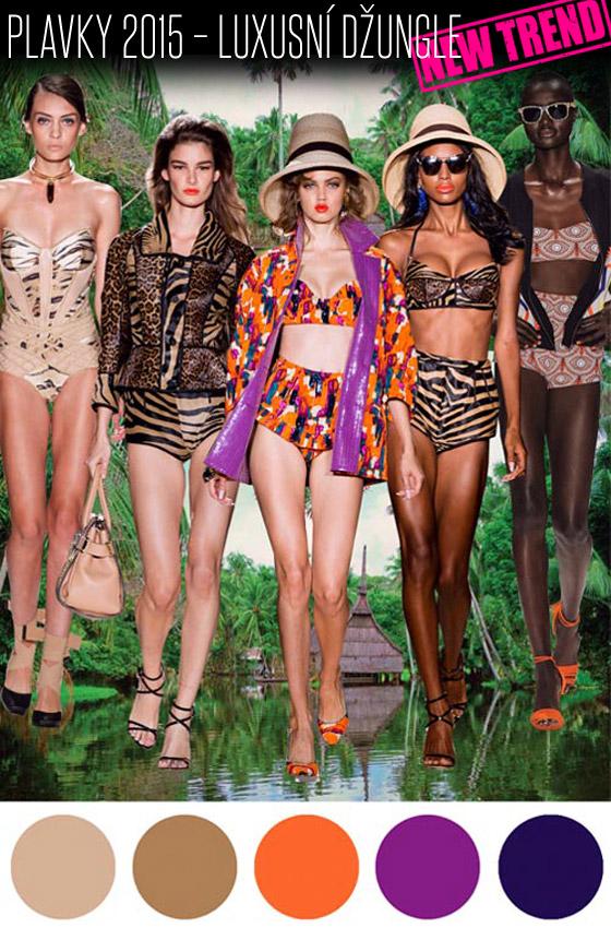 Plavky 2015 – trend Luxusní džungle.