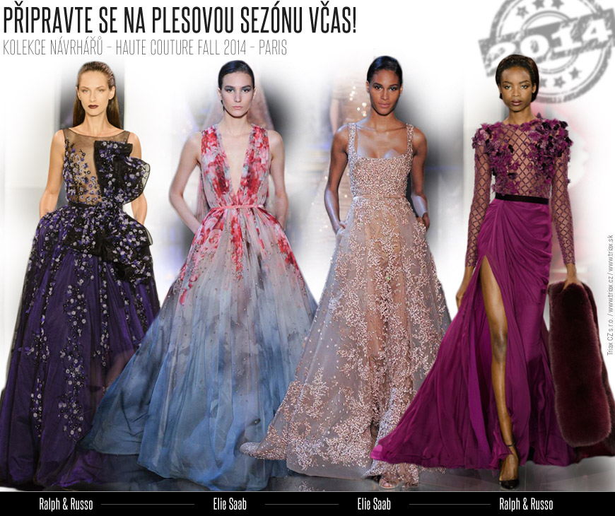 Večerní šaty inspirované Haute Couture – tipy pro plesovou sezónu 2014/15.