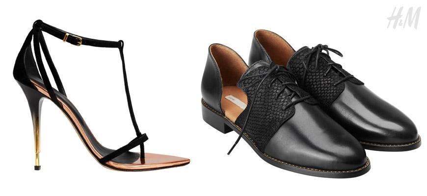 HM boty – od sandálů s luxusními prvky, až po extravagantně vykrojené dámské boty v pánském stylu.