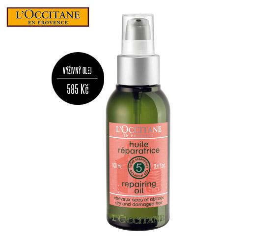 Cena oleje L´Occitan na suché a poškozené vlasy: 585 Kč