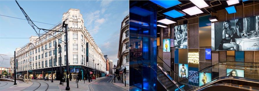 Obchod Primark v Manchesteru (Velká Británie)