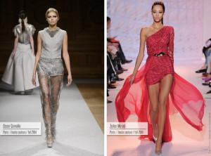 Večerní šaty z kolekcí Haute Couture Oscar Carvallo a Zuhair Murad.