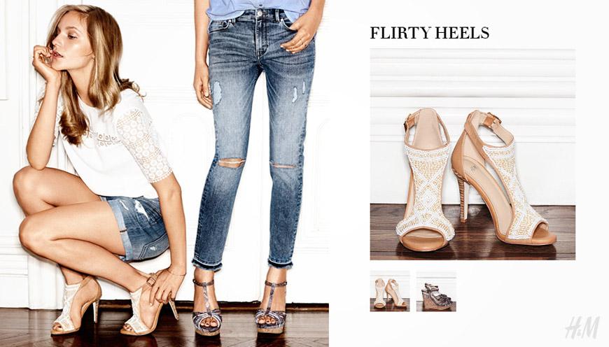 HM boty nabízí nádherné sandály vhodné pro léto.