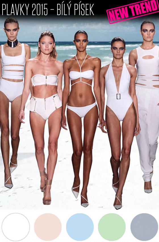 Plavky 2015 – trend Bílý písek