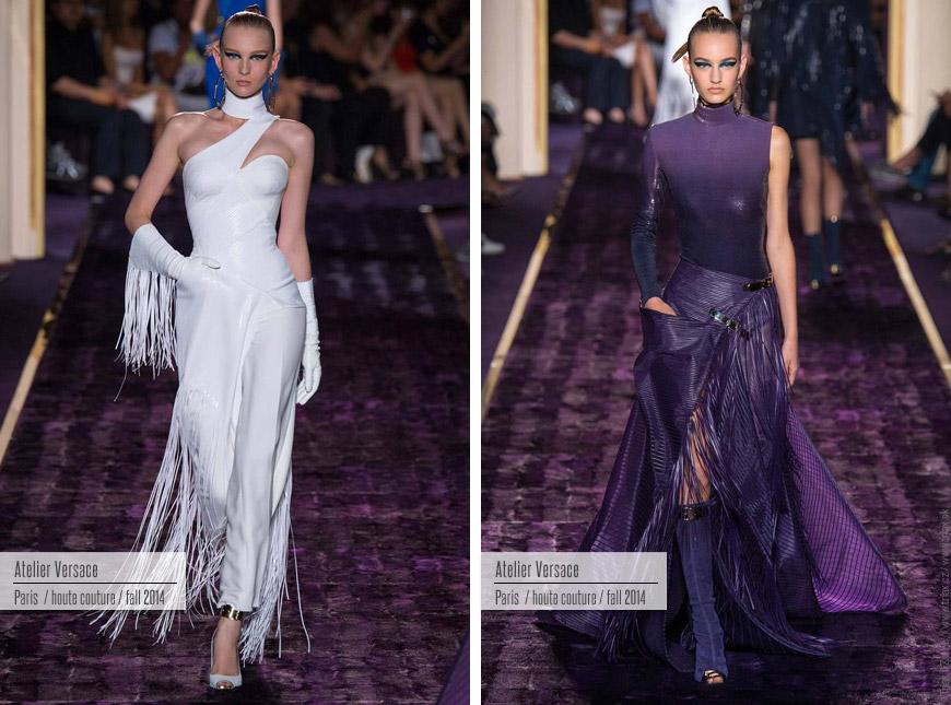 Večerní šaty z kolekce Haute Couture Versace.