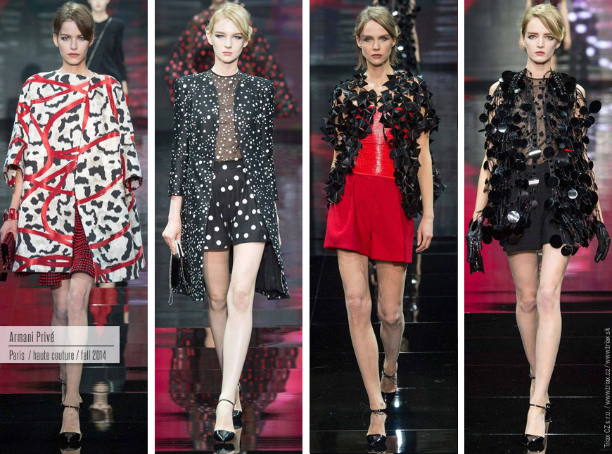 Úchvatné modely z kolekce Armani Privé Haute Couture Fall 2014.