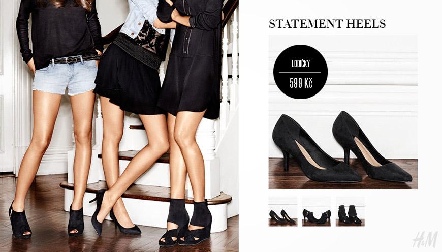 HM obuv v aktuální kolekci je především černá.