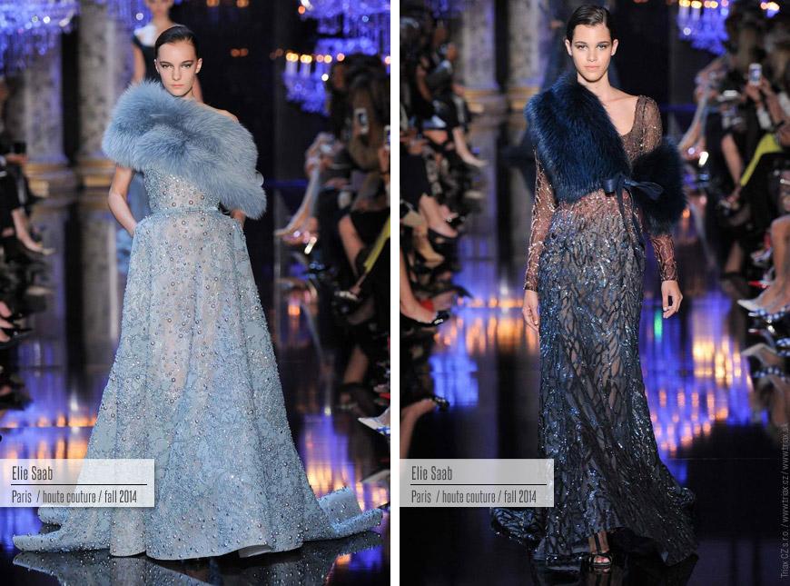 Večerní šaty z kolekce Haute Couture Ellie Saab.