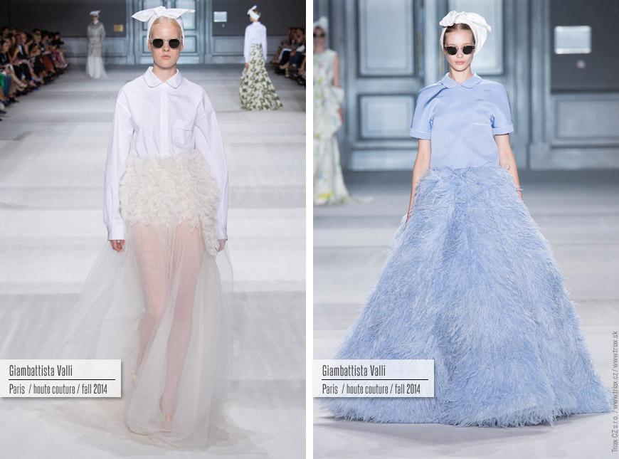 Večerní šaty z kolekce Haute Couture Giambattista Valli.