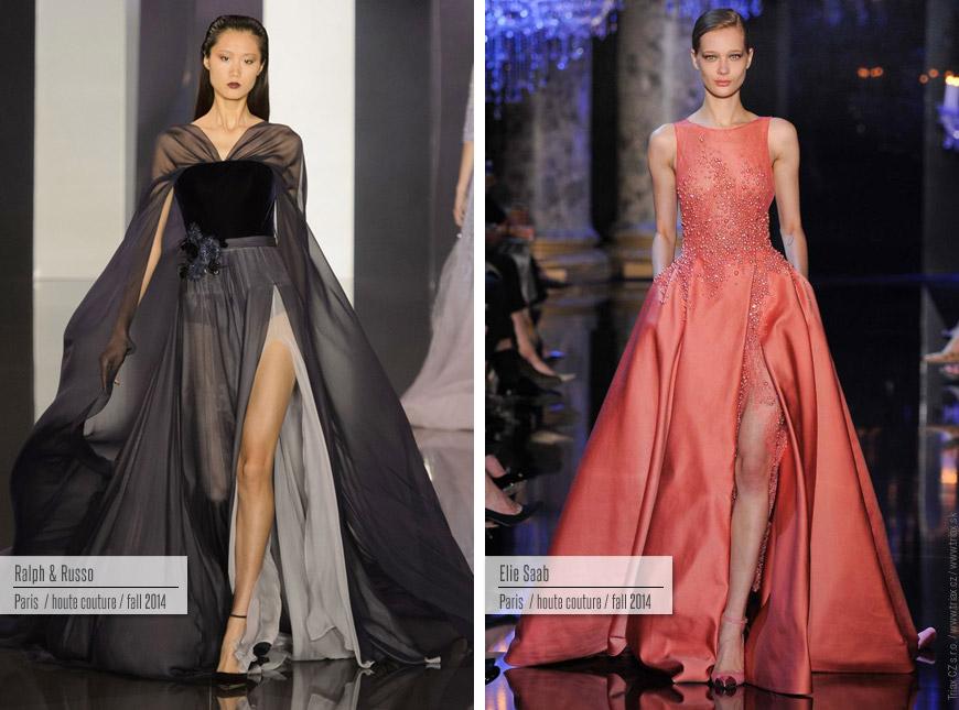Večerní šaty z kolekcí Haute Couture Ralph&Russo a Elie Saab.