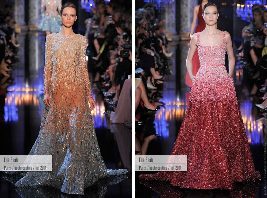 Večerní šaty z kolekce Haute Couture Elie Saab.