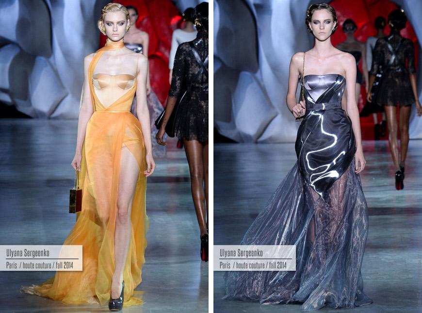 Večerní šaty z kolekce Haute Couture Ulyana Sergeenko.