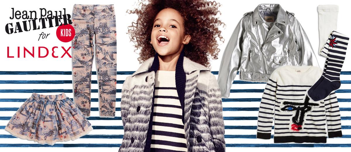 Lindex avizoval, že jeho spolupráce s designérem Gaultierem bude obsahovat i dětskou kolekci. Slib je splněn, dětská móda Gaultier x Lindex je tady!