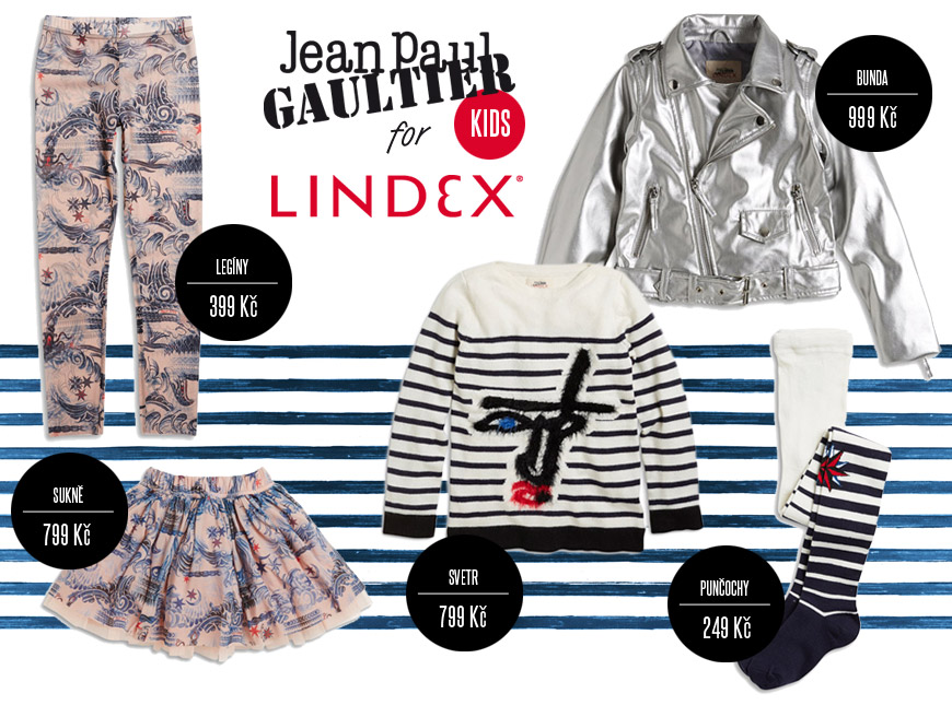 Dětská móda Jean Paul Gaultier x Lindex – na pultech bude od 8. října 2014.