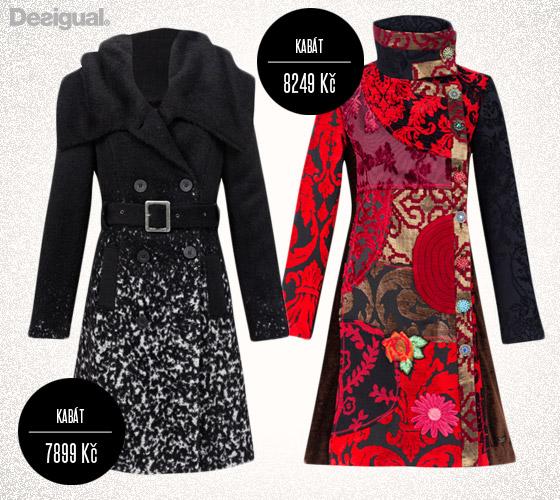 Nejhezčí kabáty Desigual z podzimní a zimní kolekce značky.