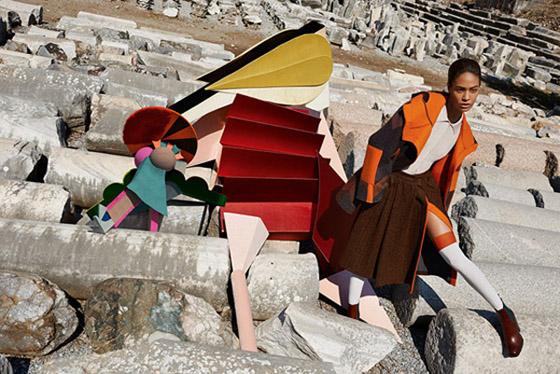 Kampaň Missoni představující kolekci pro podzim a zimu 2014/15.