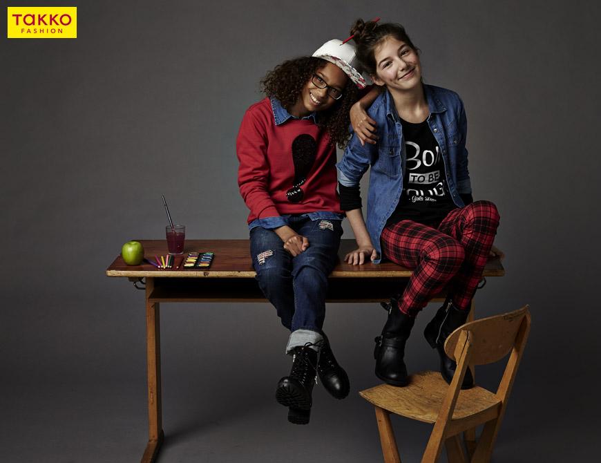 Stylová Takko móda pro dívky, ve které se budou těšit zpátky do školy.
