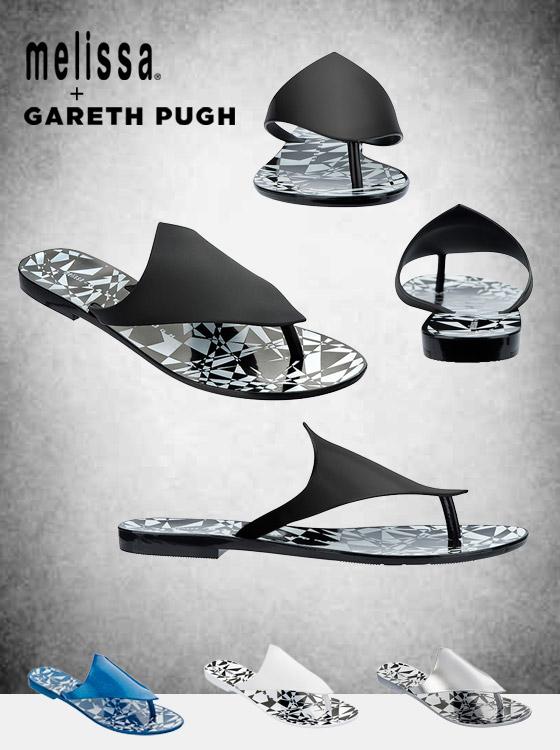 Obuv Melissa Aerilon Flip Flop + Gareth Pugh.