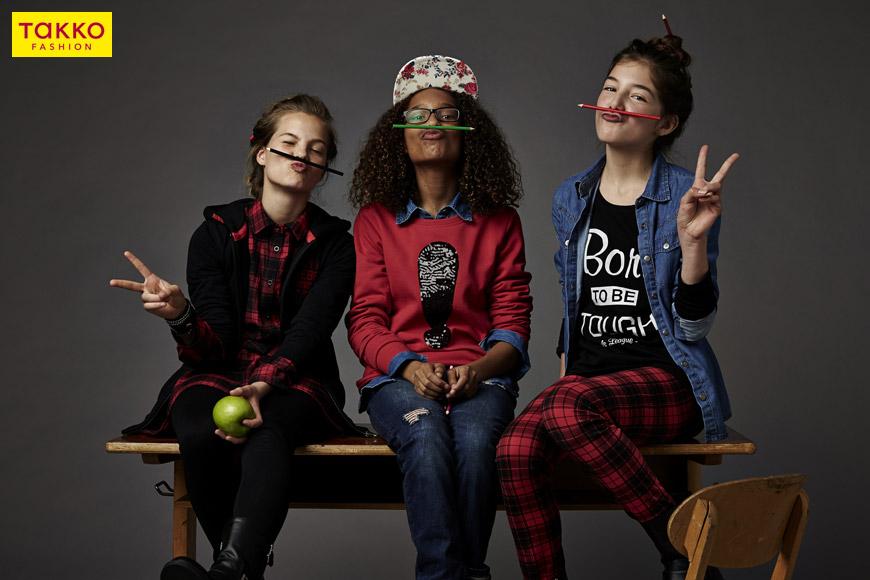 Takko oblečení pro dívky koupíte ve velikostech 92-128 a 128-176.