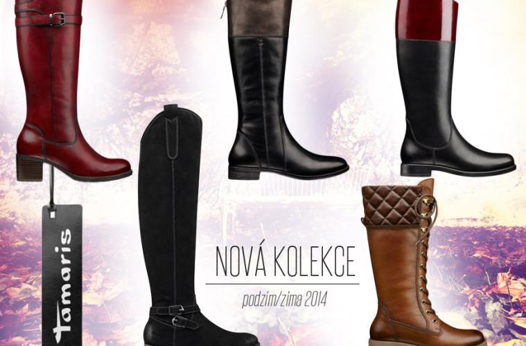 Kozačky Tamaris z nové kolekce podzim/zima 2014.
