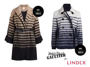Kabát a bunda z kolekce Jean Paul Gaultier pro Lindex staví na oblíbených pruzích.
