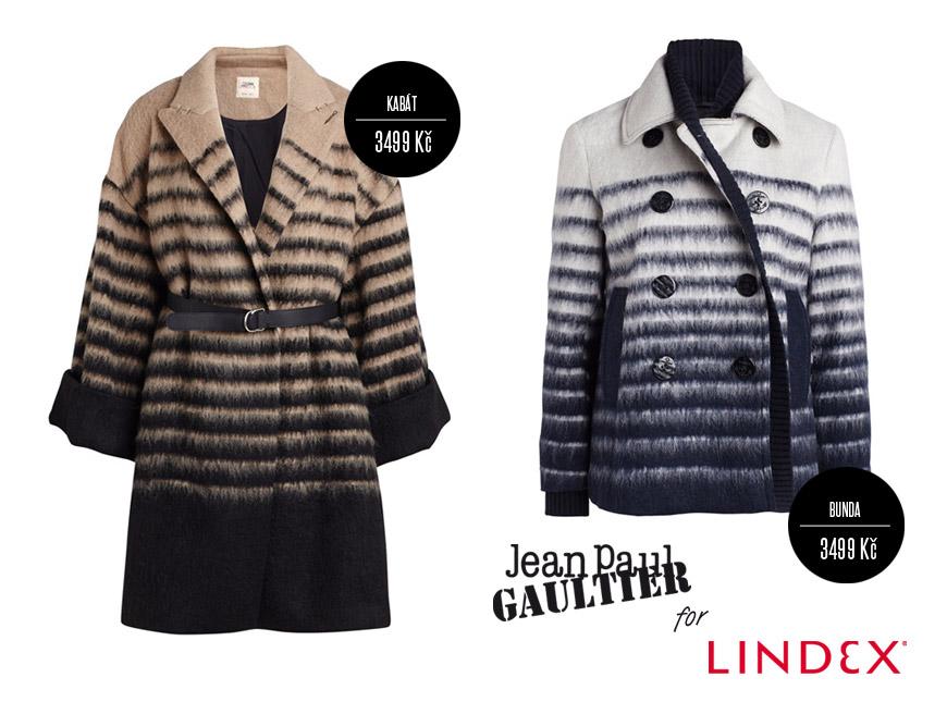 Kabát a bunda z kolekce Jean Paul Gaultier pro Lindex staví na oblíbených  pruzích. 0cc43f3a006