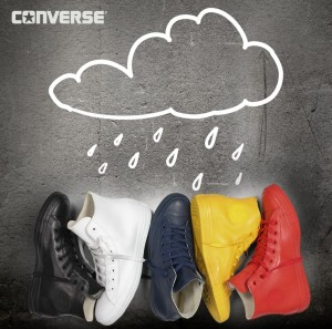 Conversky Chuck Taylor All Star Rubber jsou boty do deště. Jako novinka se prodávají od září 2014.