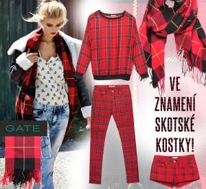 Značka GATE objevila v této sezóně tartan jako staronový módní vzor, kterému jen stěží kdokoliv z nás odolá.