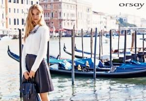 Oblečení Orsay ve stylu Metalic Glam vyniká lesklými prvky a kovovými odlesky.