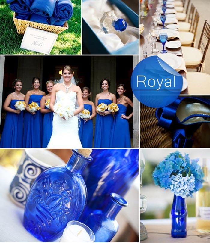 Barevná svatba podzim/zima 2014/2015 v odstínu Royal Blue.