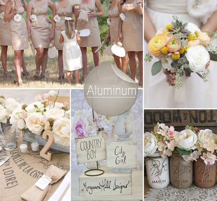 Barevná svatba podzim/zima 2014/2015 v odstínu Aluminum.