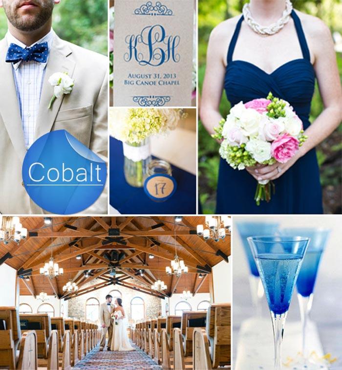 Barevná svatba podzim/zima 2014/2015 v odstínu Bright Cobalt.