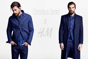 Pánská džínová kolekce Concious Denim H&M.