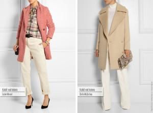Kabát nad kolena: zleva Isabel Marant, Stella McCartney.