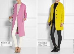 Minimalistický kabát: zleva Tibi, DAY Birger et Mikkelsen.
