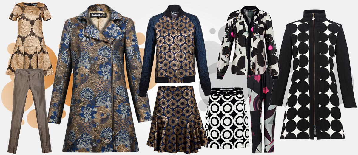 Desigual shop nyní nabízí podzimní a zimní kolekci 2014/2015, v níž nechybí ani modely navržené slavným módním návrhářem Christianem Lacroix.