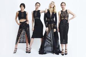 Efektní černobílé kontrasty v módní kolekci Zuhair Murad pro jaro a léto 2015.