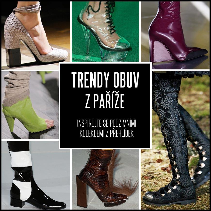 Trendy obuv podzim/zima 2014/2015: nejlepší boty z Paříže.