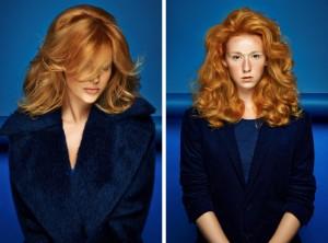 Blond účes REDKEN pro podzim a zimu 2014/2015 z kolekce Blond Silhouette.