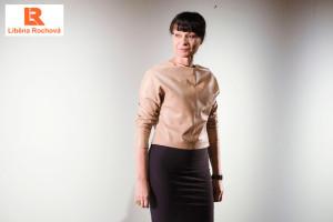 Módní návrhářka Liběna Rochová na Designblok Premier Fashion Week v březnu 2013.
