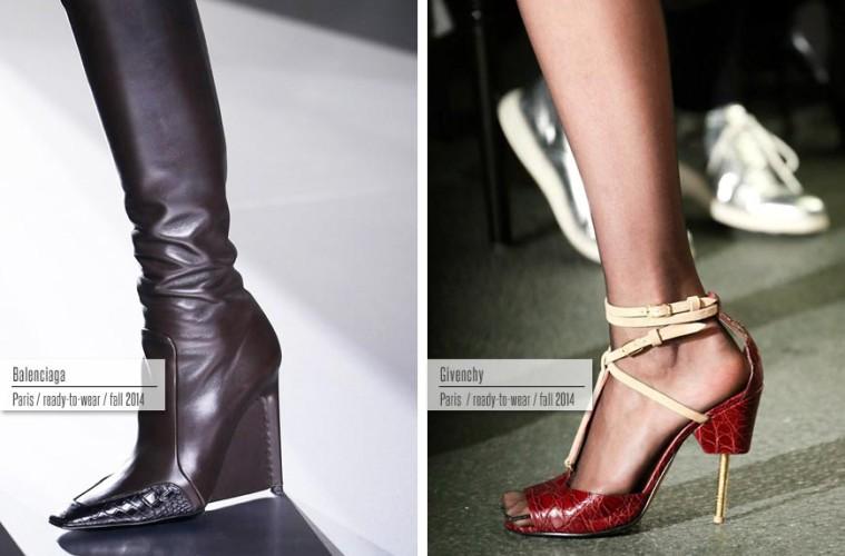 Trendy obuv podzim/zima 2014/2015: Balenciaga, Givenchy.