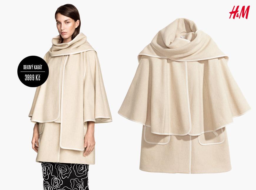 Dekový kabát z H&M (podzim/zima 2014/2015): 3999 Kč.