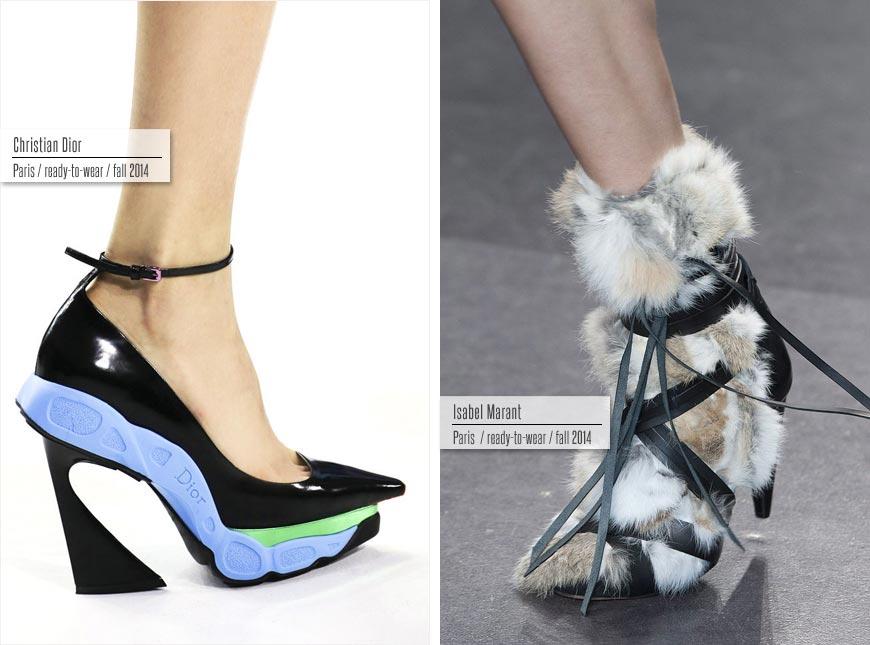 Trendy obuv podzim/zima 2014/2015: Dior, Isabel Marant.