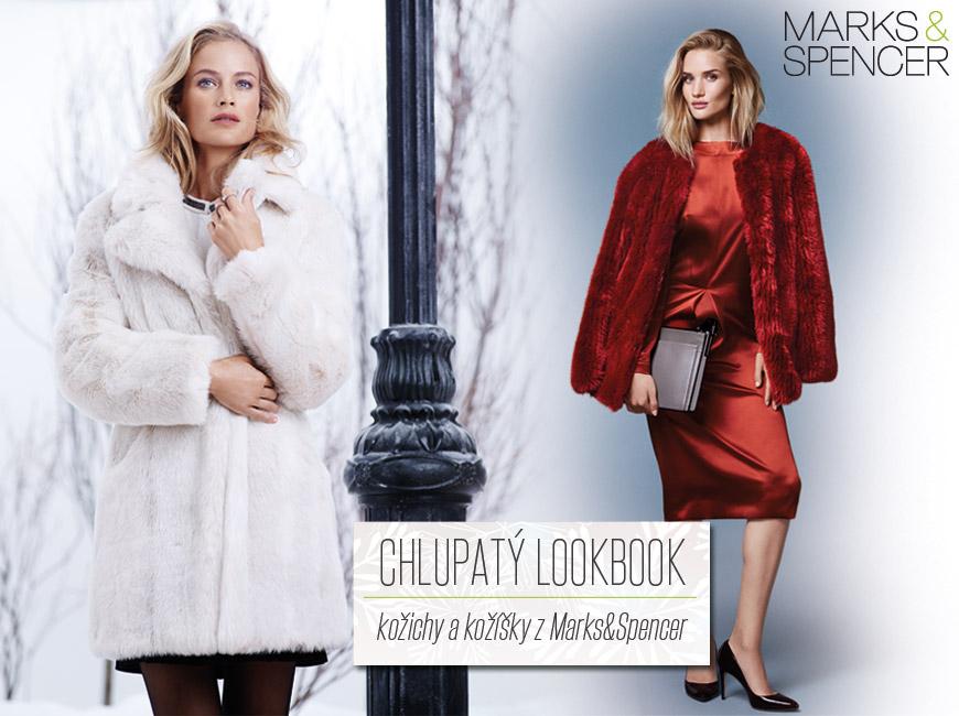 Chlupatý Lookbook – kožichy a kožíšky z Marks&Spencer