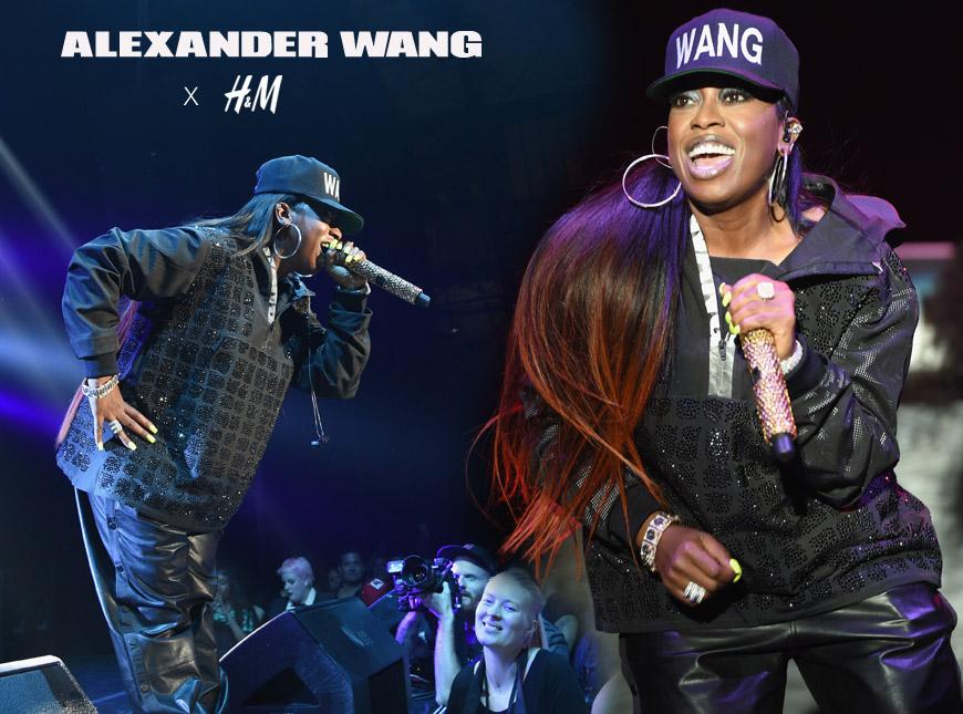 Missy Elliott a její vystoupení při uvedení kolekce Alexander Wang for H&M.