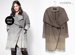 Kabát jako deka nechybí ani v sortimentů kabátů Mango. Stojí 2999 Kč.