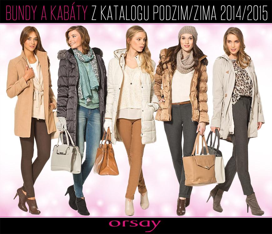 Bundy a kabáty Orsay z katalogu podzim/zima 2014/2015.