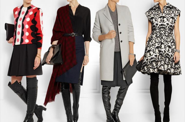 Jak se nosí vysoké kozačky nad kolena? Inspirujte se skvělými outfity.