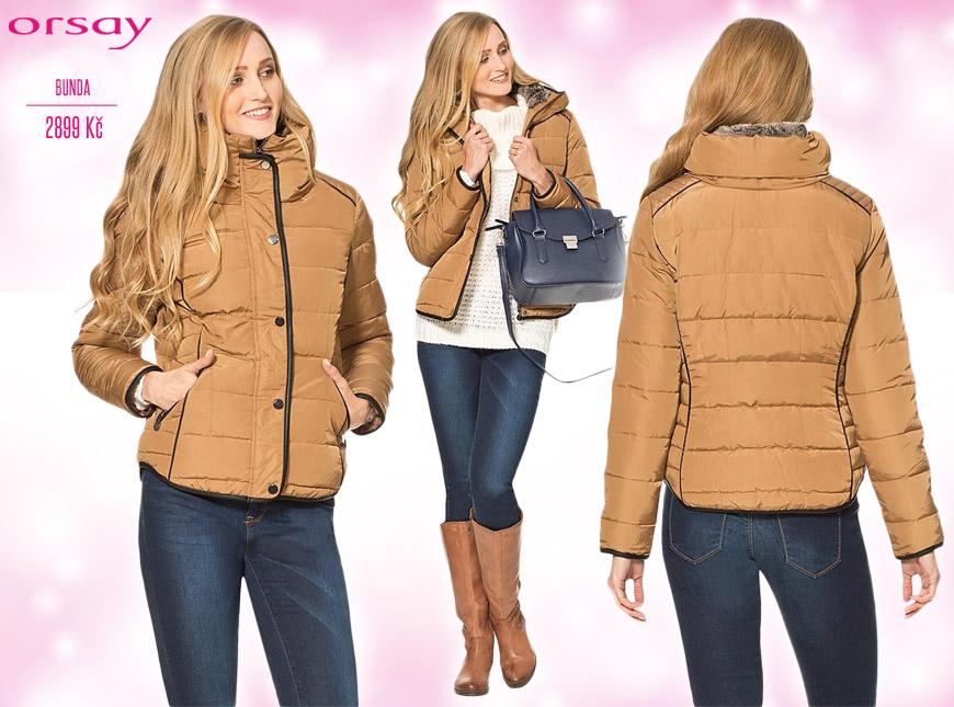 Krátká dámská bunda Orsay – katalog podzim/zima 2014/2015.
