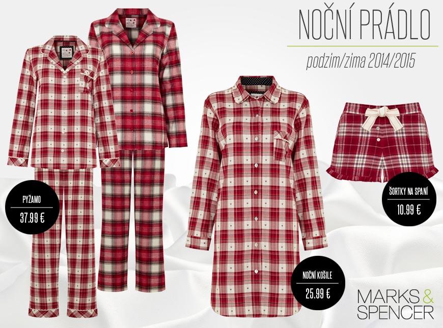 Červená kostka letos doslova válcuje nabídku nočního prádla v Marks&Spencer.